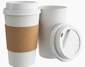 Paper Coffee Cup 400ml 3D