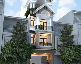 animated House design 3d model house suburban
