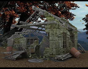 3D model Derelict Buildings Lightwave obj