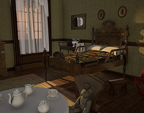 Childrens room 3D model realtime
