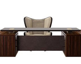 Promemoria desk and chair set 3D