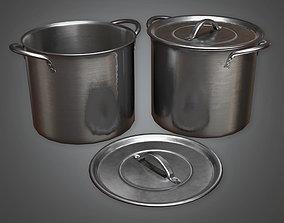 3D asset Cooking Pots 01 KTC - PBR Game Ready