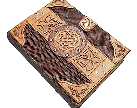 3D model VR / AR ready Old spell book