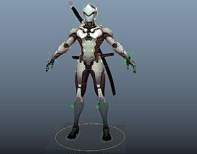 Overwatch Genji Maya rig 3D model
