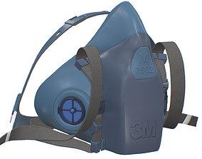Half Face piece Reusable Respirator 7502 3D model