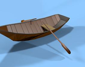 Boat Low Poly 3D asset
