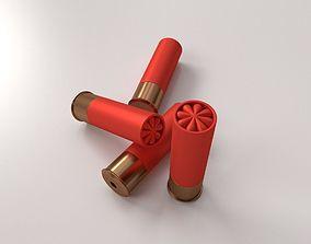 cartridge 3D model Shotgun Shells