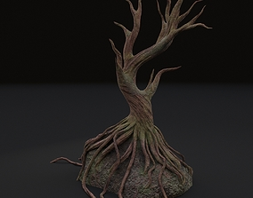 3D model treehouse Old tree