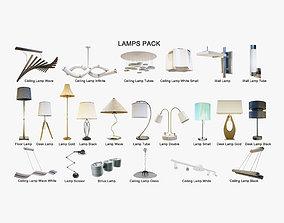 3D model Lamps Pack - Arch Viz