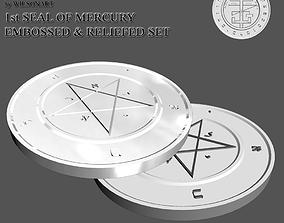 3D printable model 1st Seal of Mercury art