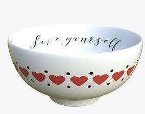 bowl with pattern 3D