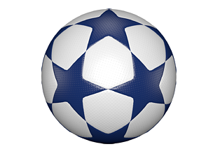 sport 3D model Star football ball
