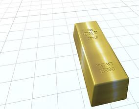 Premium Gold Bar 3D model