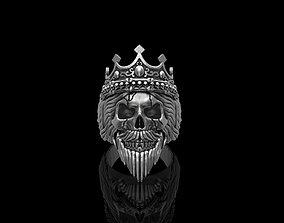 3D print model King Skull Ring
