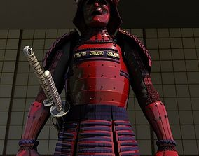 Samurai Armor Red Sanada Clan 3D model