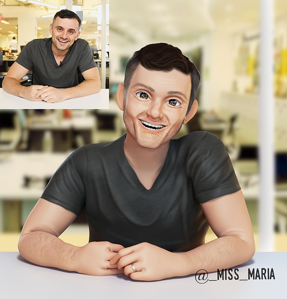 3D portrait in Disney style Gary Vee