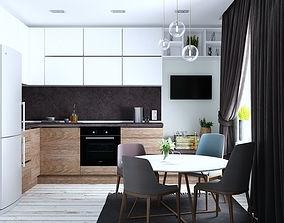 kitchen model 3D interior