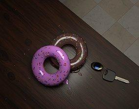 Lowpoly Dougnuts 3D