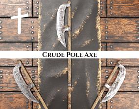 3D asset Medieval Crude Pole Axe