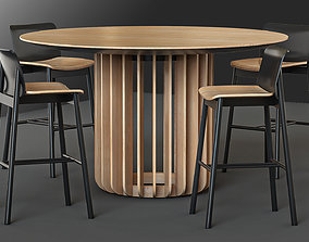3D Chair and Table Round