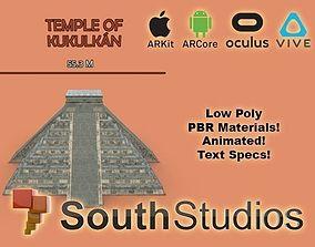 animated Animated Mayan Temple Kukulkan AR VR Unity 3dsmax