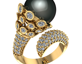 gem rings Gold ring 3D print model