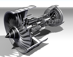 Rolls Royce Trent 900 Turbofan Jet Engine 3D