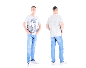 3D model realtime Man casual style 01