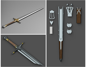 3D Shadow of Mordor Swords and Scabbards