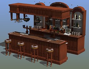 hotel Saloon Bar 3D model