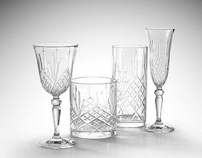 RCR Melodia Glass Set 3D model