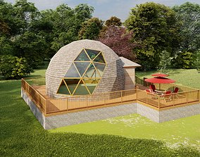 3D Geodesic Dome Guest House