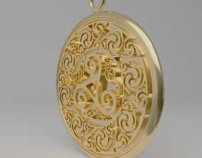 3D print model Celtic pendant circular