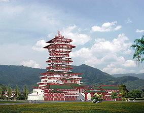 3D model The Yuewanglou Tower