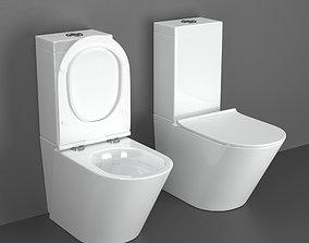 3D model Volle Nemo Rimless Compact Toilet