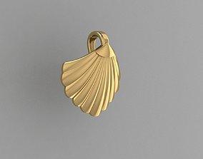 Pendant shell 3D model for printing pendant