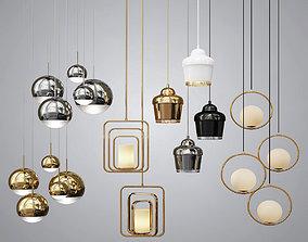 3D Four Hanging Lights pendant
