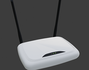 3D model game-ready Router