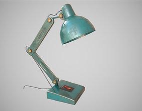 Low Poly Desk Lamp PBR 3D asset