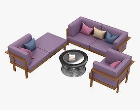 Garden Furniture 3D lounge-chair