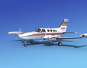 3D Cessna 421 Golden Eagle V04