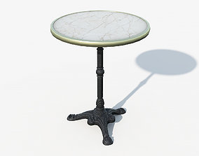 3D model Paris cafe table