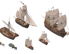 3D asset realtime sailboats