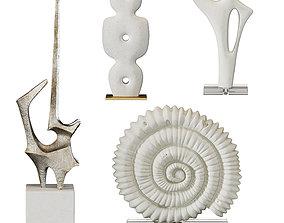Arteriors Sculptures Set 4 3D model
