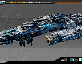 SciFi Destroyer G4 3D model