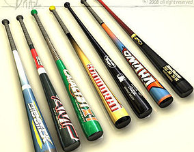 3D baseball bat collection