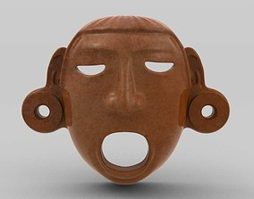 mask 3D Aztec Mask Xipe-Totec