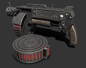 ranged Shotgun 3D model realtime