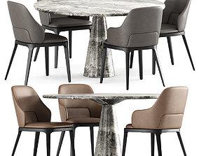 3D model Chairs DOA FRAG Table LEAF NEUTRA
