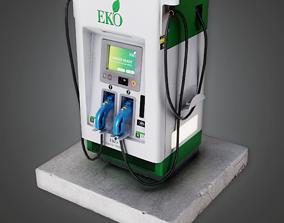 3D asset Electric Car Charging Station - SAM - PBR Game